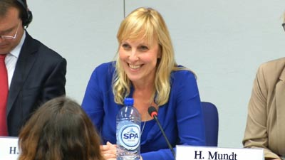 Heike Mundt speeks at the EU Conference at Brussels