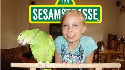 Eva trainiert Amzone Berta - Bericht in Sesamstrasse