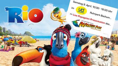 Papageienevent Filmpremiere Rio in UCI Kinowelt 2011